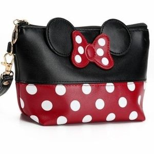 Handbags - Black and Red Minnie Mouse Makeup Bag